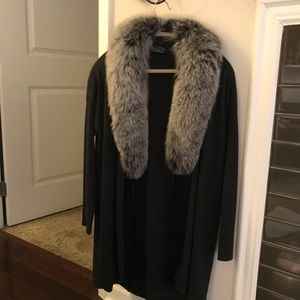 Cashmere with Fox collar cardigan